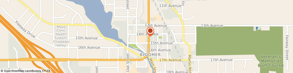 Route/map/directions to Citibank ATM, 54724 Bloomer, 1401 Main St
