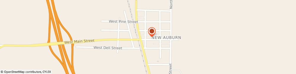 Route/map/directions to Citibank ATM, 54757 New Auburn, 112 Main