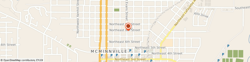 Route/map/directions to Northwest Title Co, 97128 Mcminnville, 775 NORTHEAST EVANS STREET