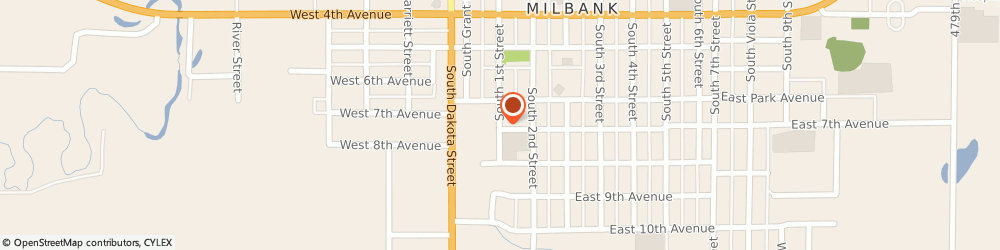 Route/map/directions to Emanuel Lutheran Church, 57252 Milbank, 701 SOUTH 1ST ST