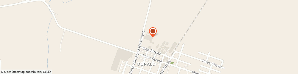 Route/map/directions to Material Flow & Conveyor Systems Inc., 97020 Donald, 21150 Butteville Rd NE