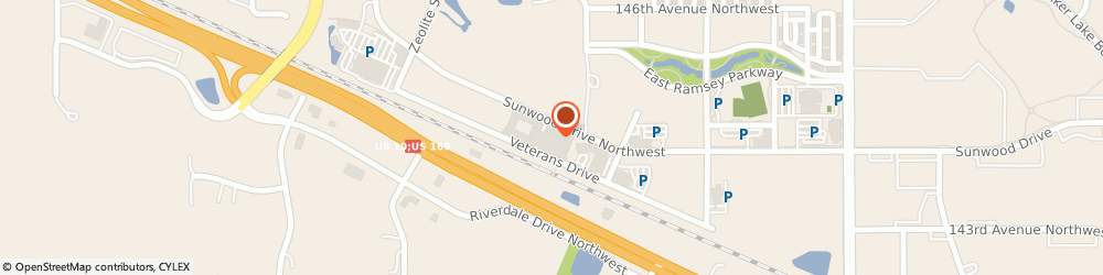 Route/map/directions to Northwest Metro Va Clinic, 55303 Ramsey, 7545 VETERANS DRIVE