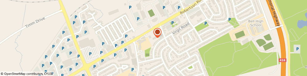 Route/map/directions to Bells Corners Physio-therapy, K2H 5B9 Nepean, 1956 Robertson Road