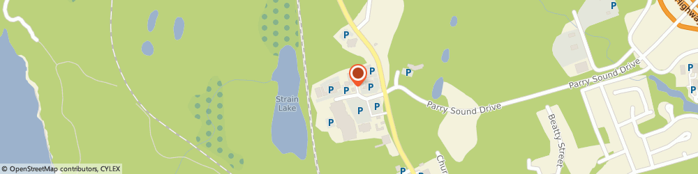 Route/map/directions to Ashley HomeStore, P2A 3A9 Parry Sound, 5 Mall Dr