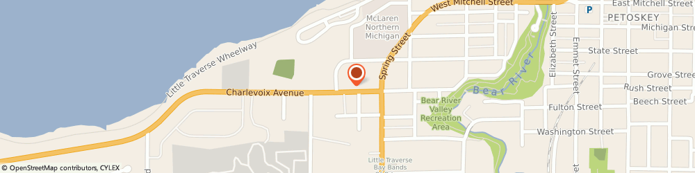 Route/map/directions to Wendy's, 49770 Petoskey, 822 Charlevoix Avenue