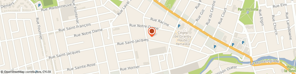 Route/map/directions to Couche-Tard, J2G 7A2 Granby, 111 Rue Saint-Charles S