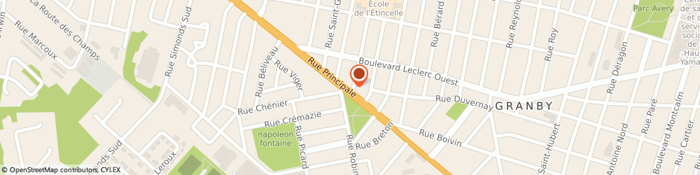 Route/map/directions to Investors Group - JEAN MENARD, J2G 2Y1 Granby, 615 Rue Principale