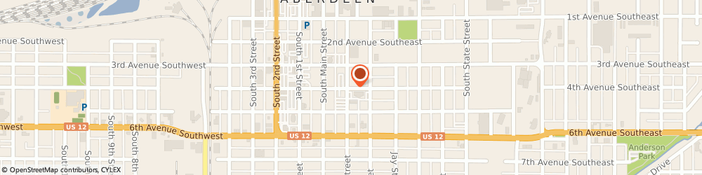 Route/map/directions to Social Security Administration, 57401 Aberdeen, 115 4TH AVENUE SOUTHEAST SUITE 111