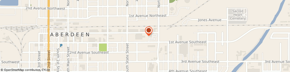 Route/map/directions to Avera St. Luke's Business Health, 57401 Aberdeen, 805 1st Ave. SE