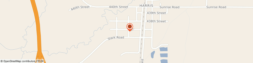 Route/map/directions to Harris Covenant Church, 55032 Harris, 43680 GATES AVENUE