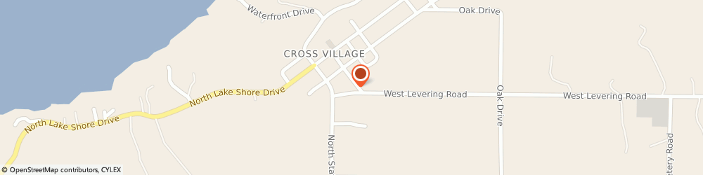 Route/map/directions to Exxon Mobil CROSS VILLAGE, 49723 Cross Village, 5948 West Levering Road