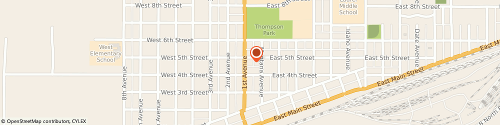 Route/map/directions to Burger King, 59044 Laurel, 417 1ST AVENUE