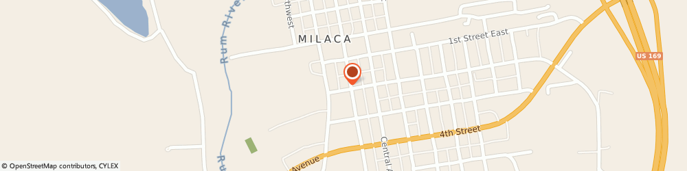 Route/map/directions to First National Bank of Milaca - Milaca Office, 56353 Milaca, 190 2nd Ave SW