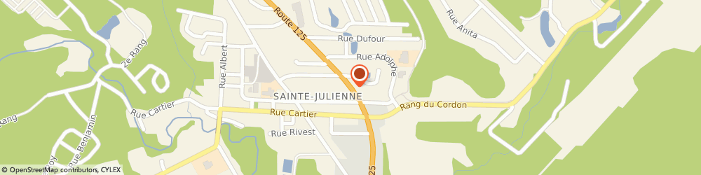 Route/map/directions to Scotiabank, J0K 2T0 Sainte-Julienne, 1365 Rte 125