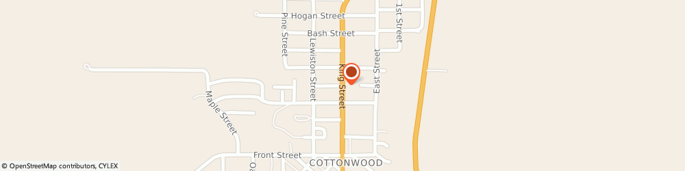 Route/map/directions to Camas Prairie Insurance, 83522 Cottonwood, 608 King St