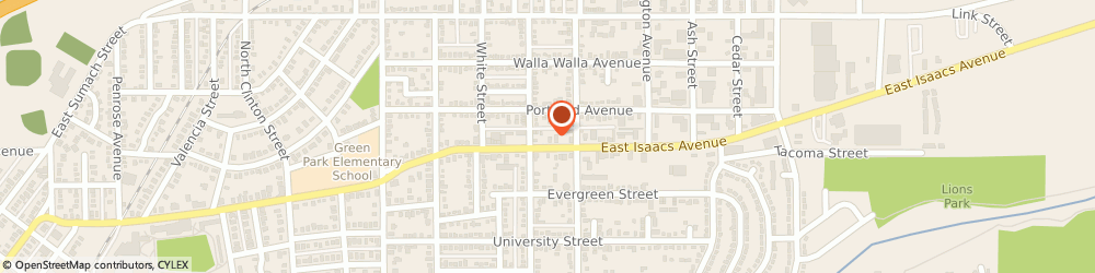 Route/map/directions to Block H & r Income Tax Service, 99362 Walla Walla, 1619 EAST ISAACS AVENUE