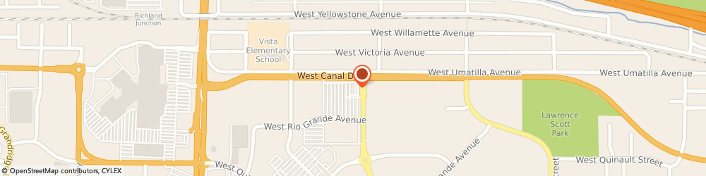 Route/map/directions to Wendy's, 99336 Kennewick, 7003 W Canal Dr
