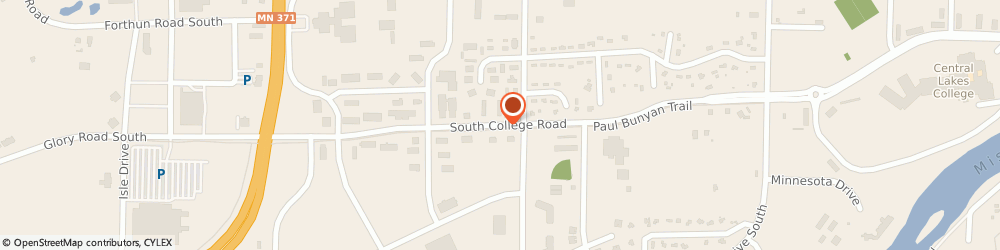 Route/map/directions to Ecowater Systems, 56425 Baxter, 1551 SOUTH COLLEGE ROAD