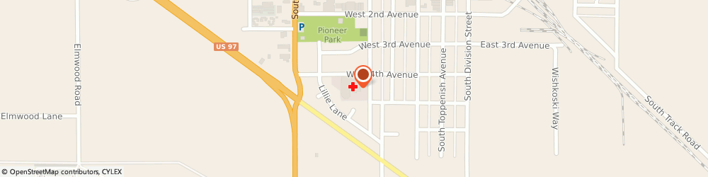 Route/map/directions to Toppenish Community Hospital, 98948 Toppenish, 502 W 4Th Ave