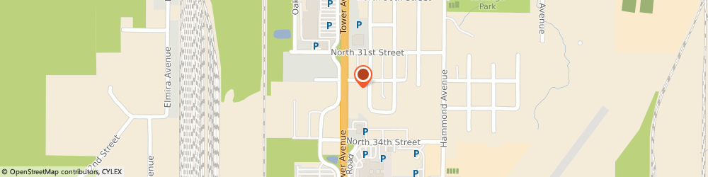 Route/map/directions to American Window Cleaning Service, 54880 Superior, 3202 Tower Ave