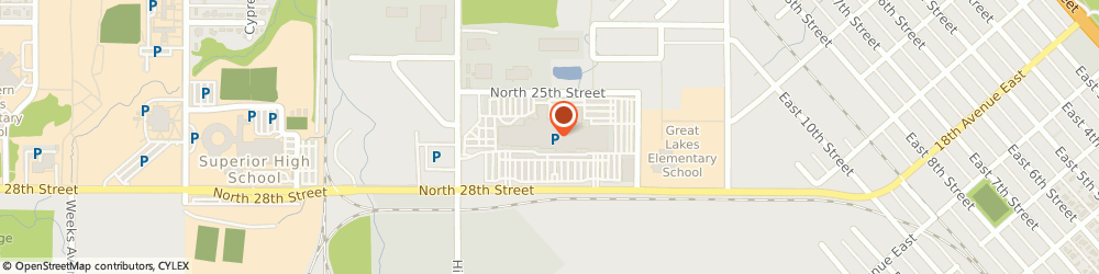 Route/map/directions to Mariner Mall Administrative, 54880 Superior, 69 N 28Th St E Ofc