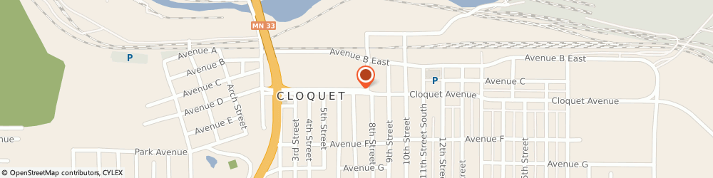 Route/map/directions to Atm Great Western Bank, 55720 Cloquet, 715 Cloquet Avenue