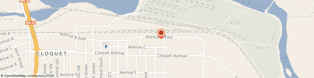 Route/map/directions to Northwoods Credit Union - Cloquet Main Branch, 55720 Cloquet, 1702 Avenue B