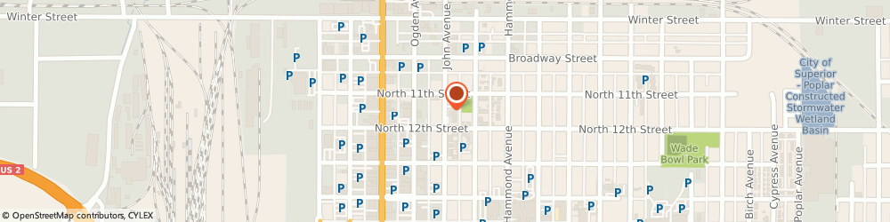 Route/map/directions to Westbay Apartments, 54880 Superior, 1104 JOHN AVE