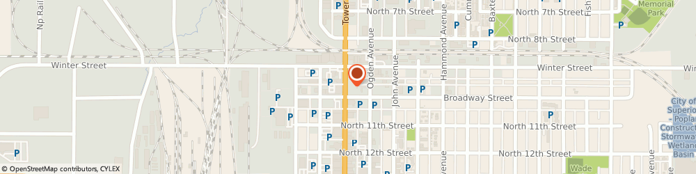 Route/map/directions to Lund-Hill Apartments, 54880 Superior, 914 TOWER AVE APT 106