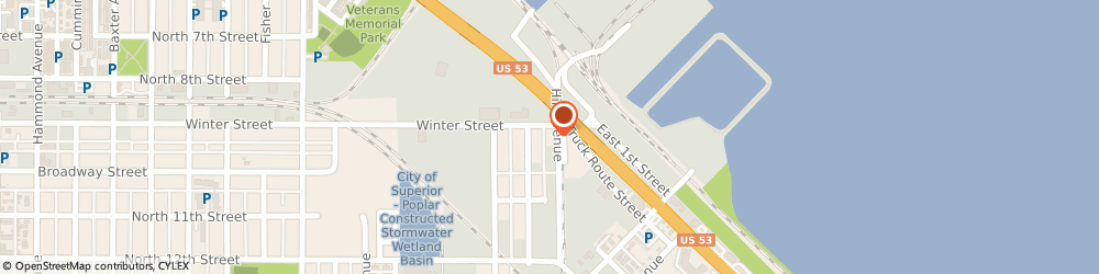 Route/map/directions to Twin Ports Cleaning Co, 54880 Superior, 2 WINTER ST
