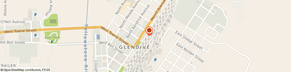 Route/map/directions to Glendive church of Christ, 59330 Glendive, P.O. Box 251