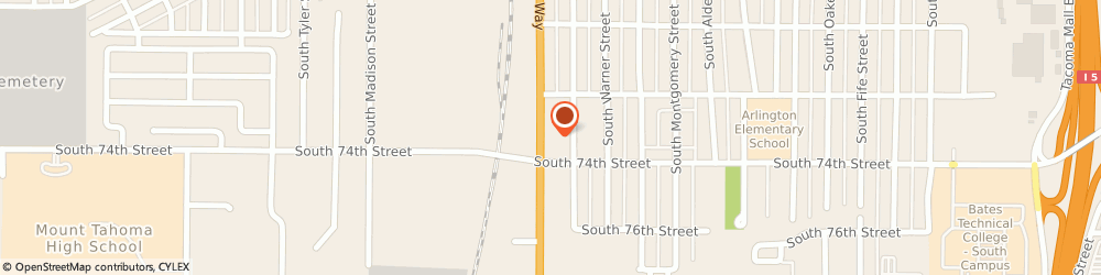 Route/map/directions to Navy Federal Credit Union ATM, 98409 Tacoma, 7231 South Tacoma Way