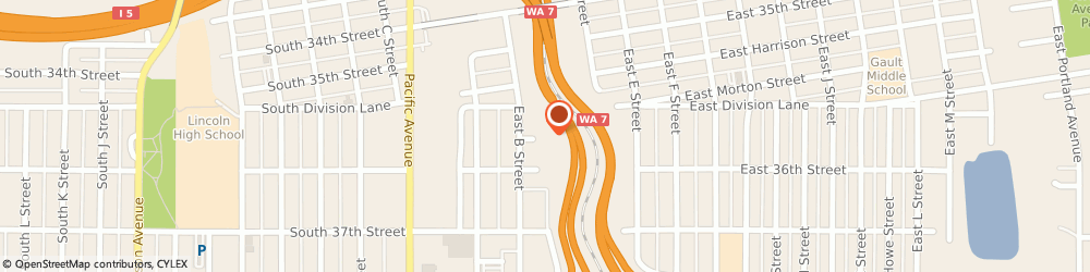 Route/map/directions to Corporate Suites, 98404 Tacoma, 219 EAST DIVISION COURT