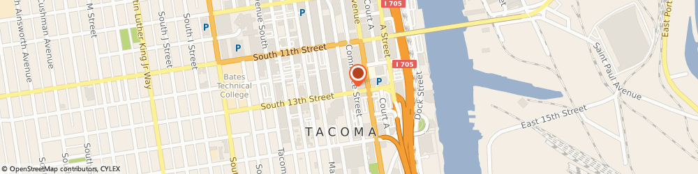 Route/map/directions to United Sates Government - Federal Bureau Of Investigation, 98402 Tacoma, 1145 BROADWAY # 350