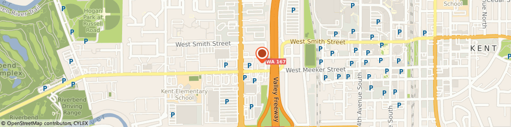 Route/map/directions to Baskin Robbins, 98032 Kent, 110 Washington Ave N