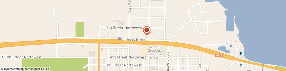 Route/map/directions to Dairy Queen, 56633 Cass Lake, 115 6th St NE Ste A
