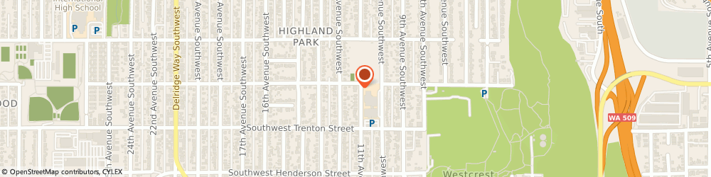 Route/map/directions to Seventh-Day Adventist Church SEATTLE, 98106 Seattle, 8611 11Th Ave Sw
