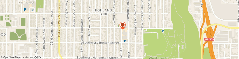 Route/map/directions to Community of Christ Highland Park, 98106 Seattle, 8611 11Th Ave. Sw