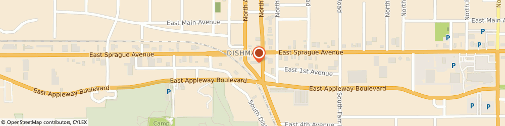 Route/map/directions to Media Controlled LLC, 99206 Spokane Valley, 9116 E Sprague Ave