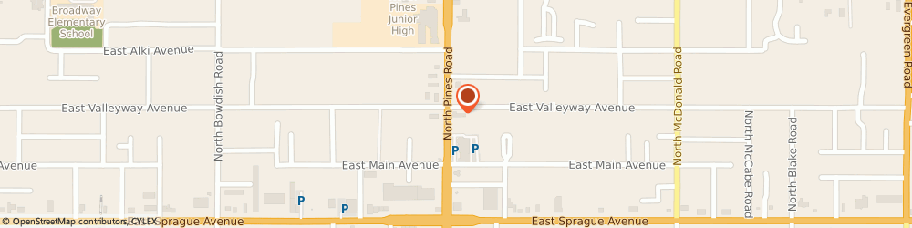 Route/map/directions to Firestone Retailer, 99206 Spokane Valley, 324 N Pines