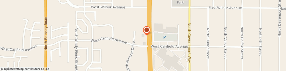 Route/map/directions to OLIVE GARDEN Coeur D'Alene, 83815 Coeur D'alene, 525 W. Canfield Ave