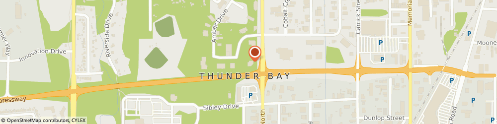 Route/map/directions to RBC Royal Bank of Canada, P7B 6M8 Thunder Bay, 1159 Alloy Dr