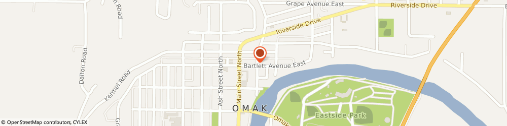 Route/map/directions to Washington Federal Omak, 98841 Omak, 21 W. Bartlett Ave