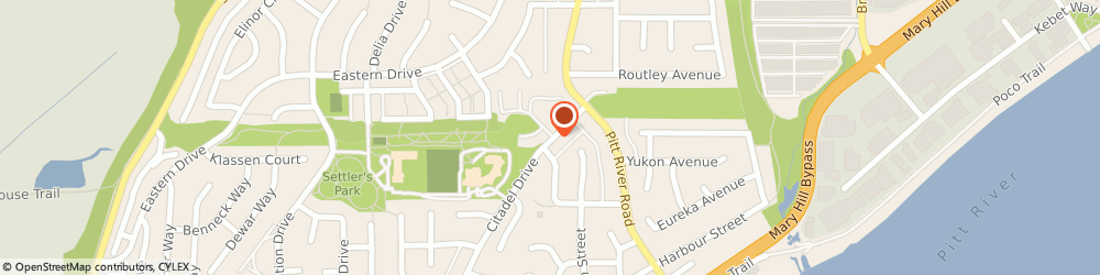 Route/map/directions to Citadel Middle School, V3C 5X6 Port Coquitlam, 1265 CITADEL DR