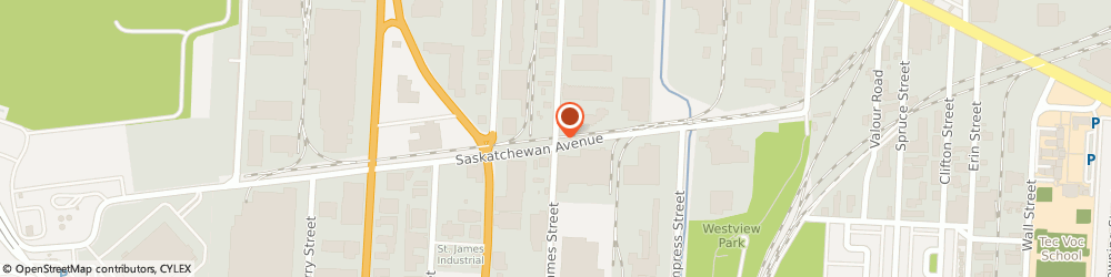 Route/map/directions to Evelyns Cake Decorating Supplies, R3H 0Z1 Winnipeg, 1391 ST JAMES ST