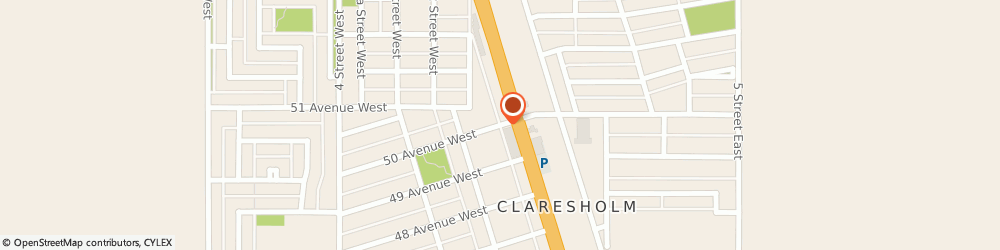 Route/map/directions to Twiss C Michael Dr Chiropractor, T0L 0T0 Claresholm, 111 50 AVE W