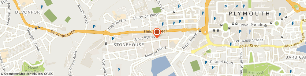 Route/map/directions to Plymouth Roofers, PL1 3NY Plymouth, Unit 6011, 26 George Place