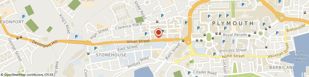 Route/map/directions to CH Hair Ltd  Union Barbers, PL1 3EZ Plymouth, 90A Union St