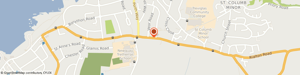 Route/map/directions to Newquay Airport Taxis Org - Henver Cars, TR7 3EQ Newquay, 120 Henver Rd