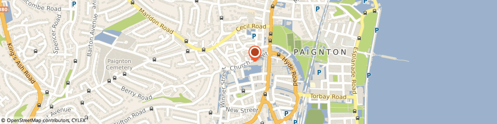 Route/map/directions to Azeeky Trading Ltd, TQ3 3AH Paignton, 28 Church St